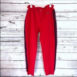 NWT Tommy Hilfiger red blue sweatpants joggers XL
